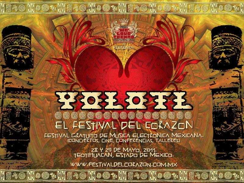 Yolotl - El Festival Del Corazón - Flyer front