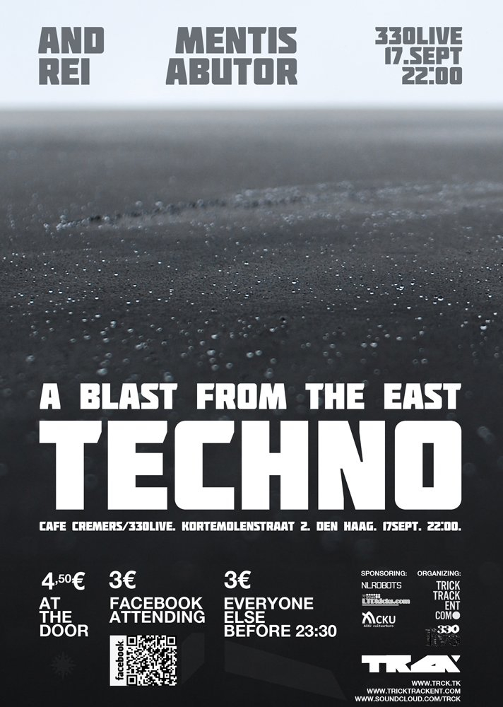 A Blast From The East - Techno: Andrei // Mentis Abutor - Flyer front