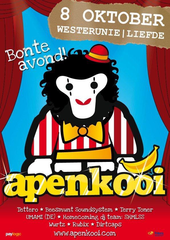 Apenkooi Bonte Avond - Flyer front