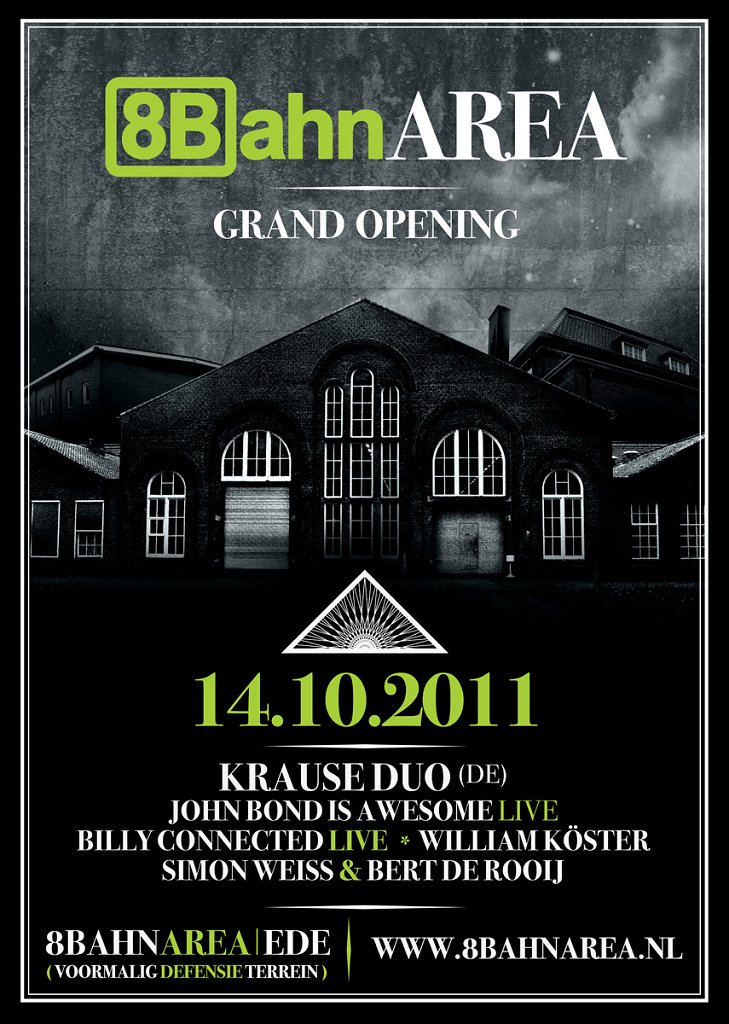 8bahn Area: Grand Opening - Flyer front