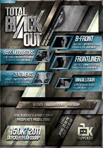 Total Blackout - Flyer front
