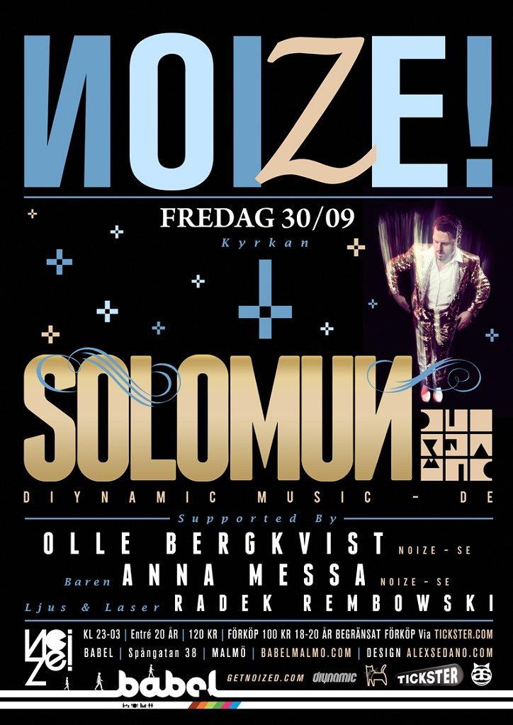 Noize presents Solomun - Flyer front