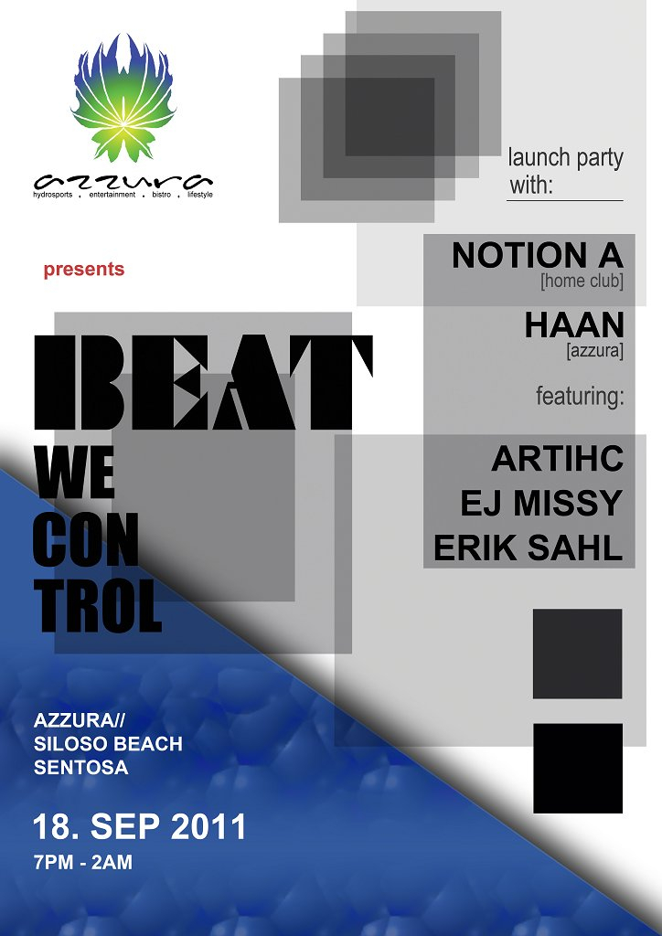 Azzura presents Beat We Control Launch Party - Flyer front
