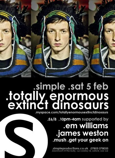 Simple with Totally Enormous Extinct Dinosaurs - Flyer front
