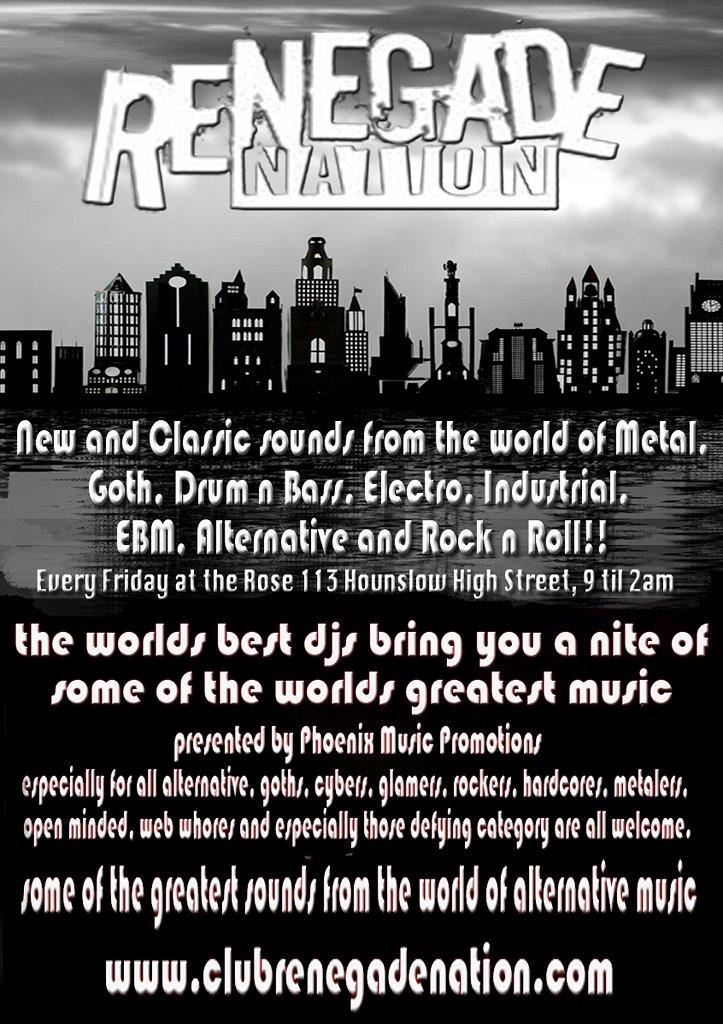 Renegade Nation - Flyer front