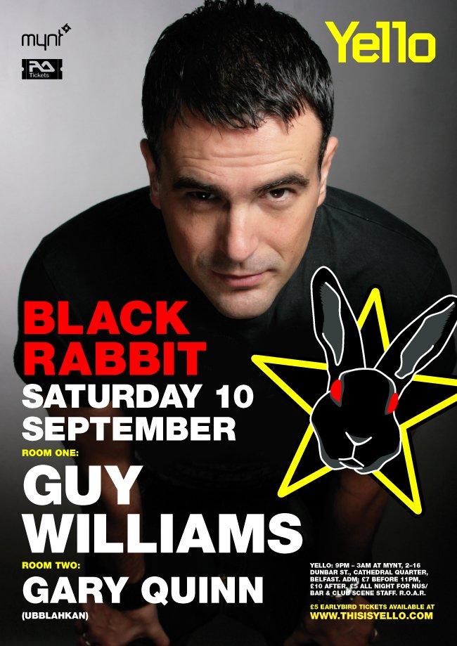 Yello presents Guy Williams - Flyer front