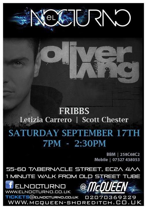 El Nocturno presents Ibiza Legend Oliver Lang - Flyer front