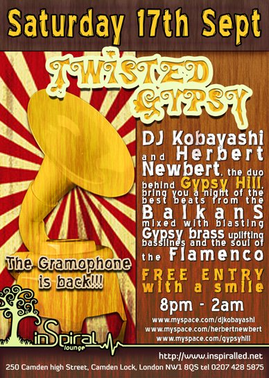 Twisted Gypsy - Flyer front