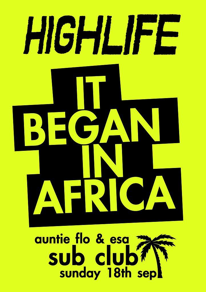 Highlife - It Began In Africa - Flyer front