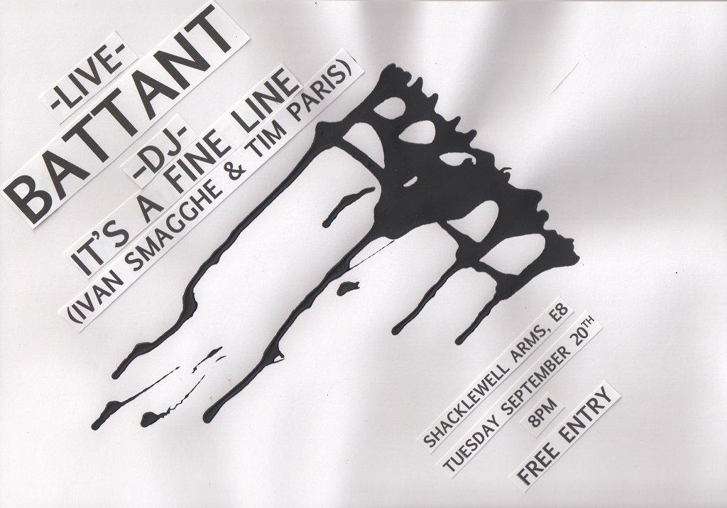 Battant & It's A Fine Line - Flyer front