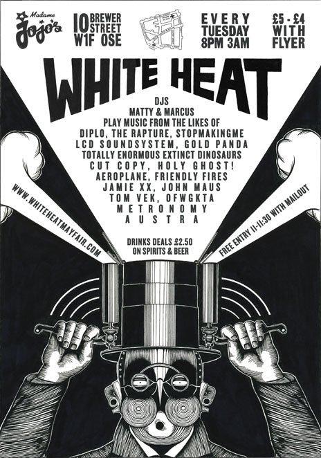 White Heat Club - Flyer back