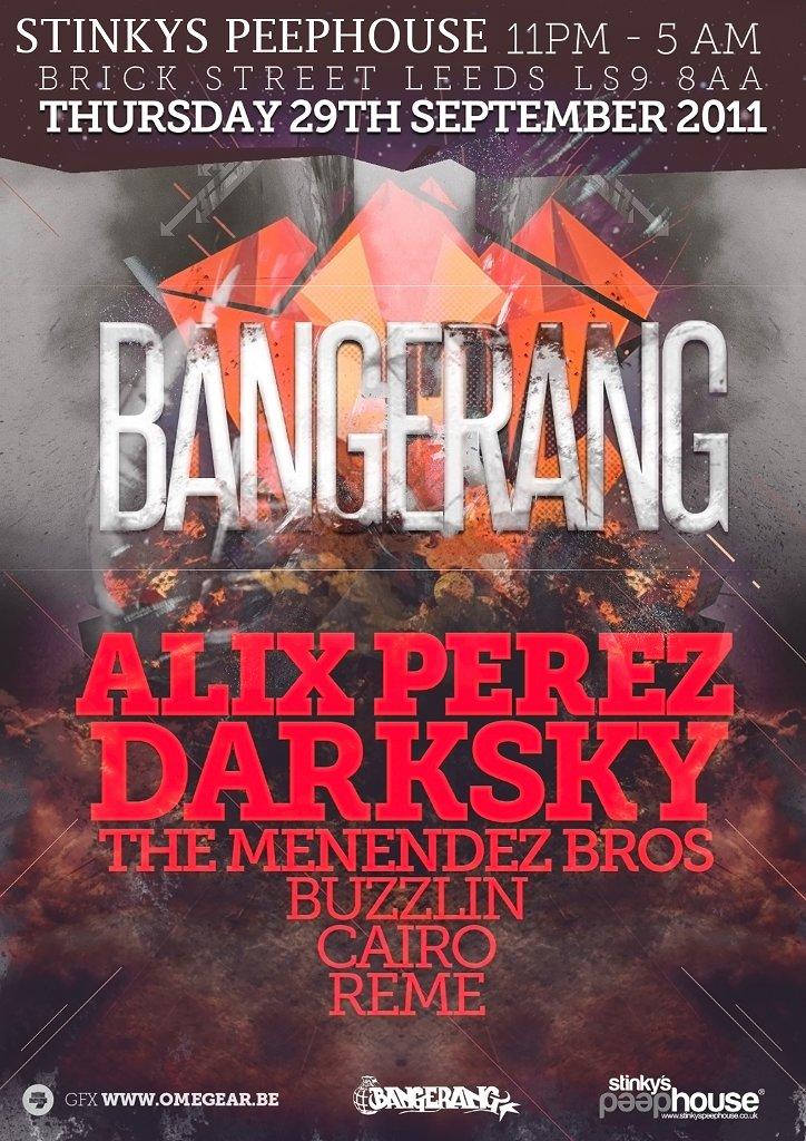 Bangerang with Alix Perez Darksky - Flyer front
