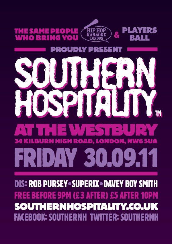 Southern Hospitality - Flyer front