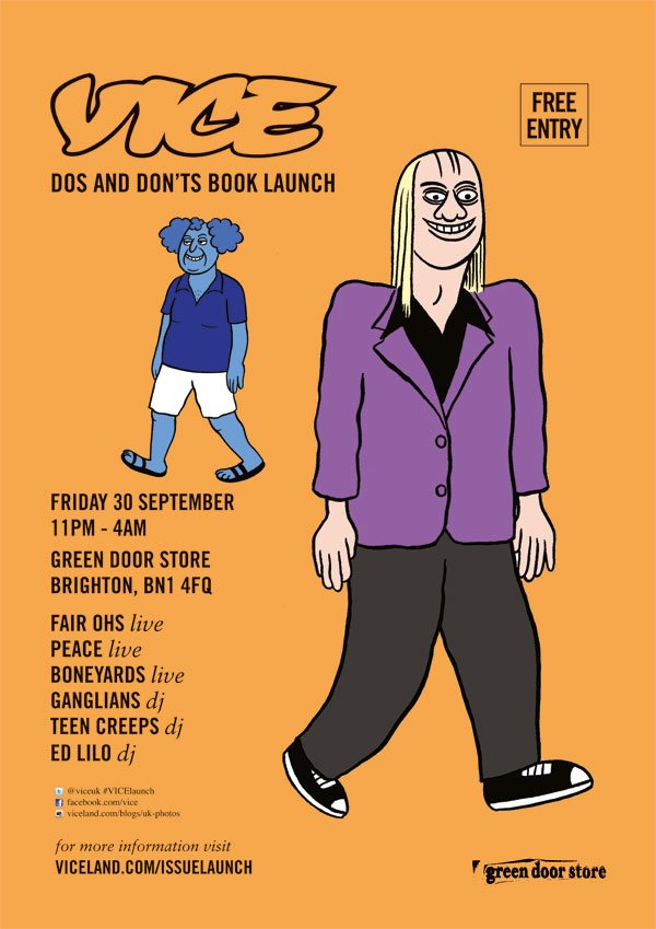 Vice Do's & Don'Ts Launch Party feat Fair Ohs & Peace & Boneyards - Flyer front