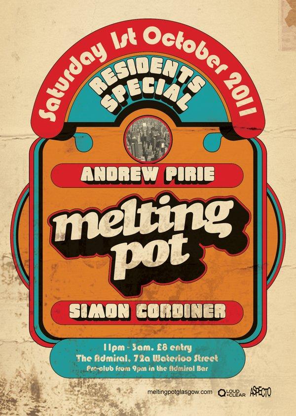 Melting Pot Residents Special - Flyer front