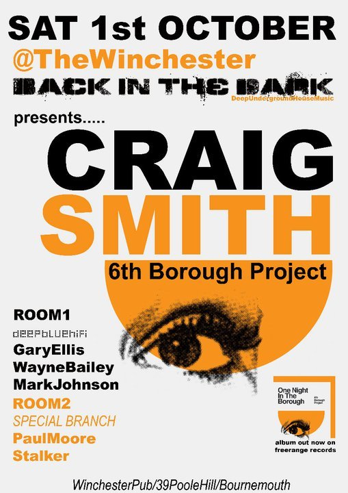 Back In The Dark present Craig Smith - Flyer front