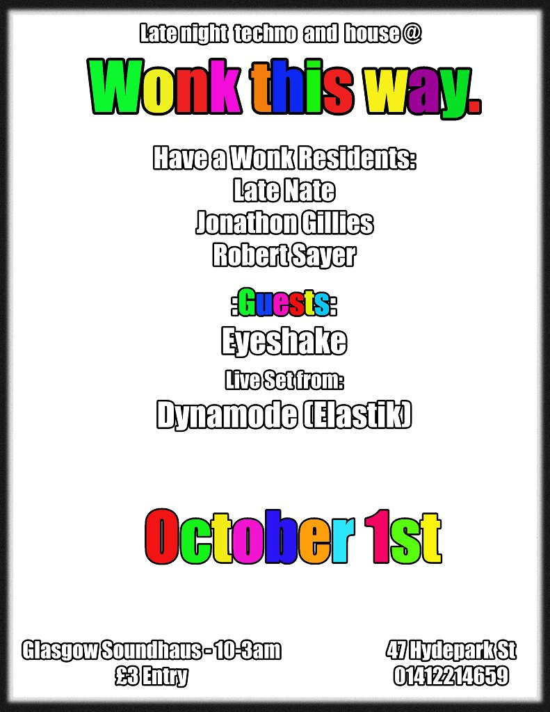 Wonk This Way - Flyer front