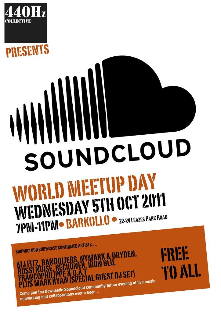 Soundcloud Global Meetup Newcastle (Uk) - Flyer front