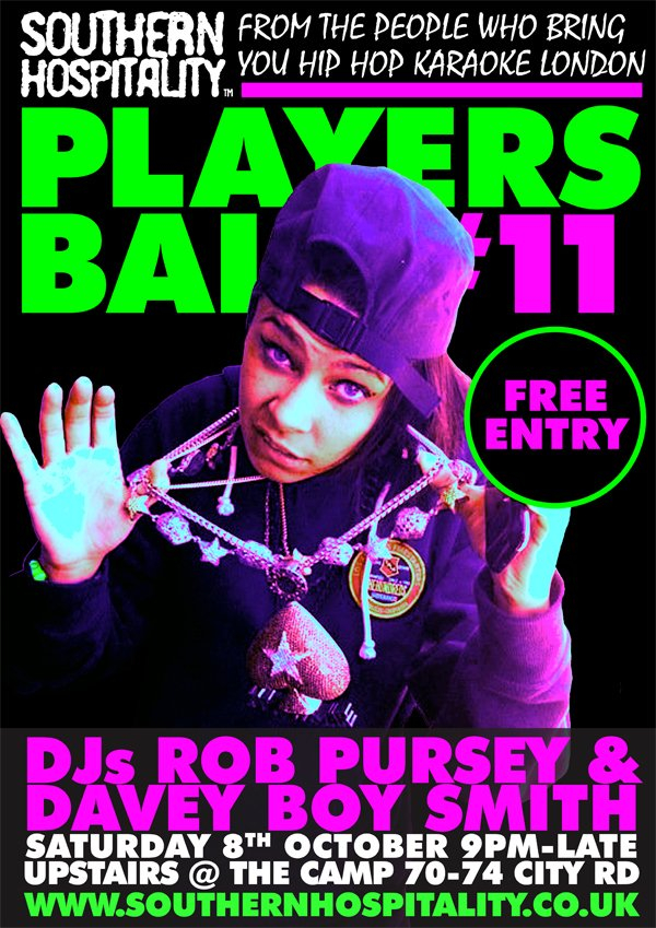 Southern Hospitality presents: Players Ball - Flyer front