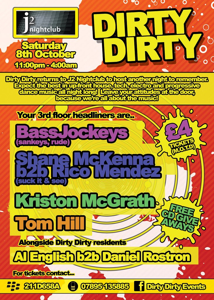 Dirty Dirty - Flyer back