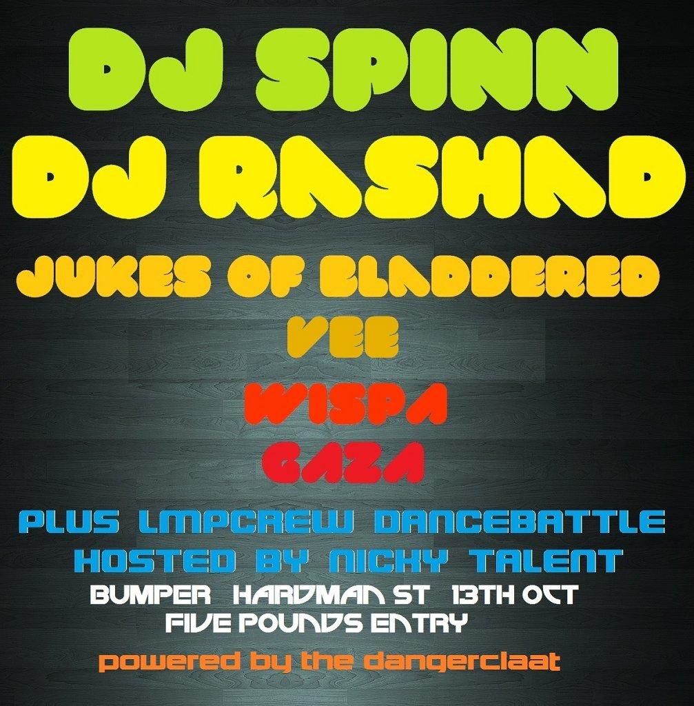 Nerd presents: Dj Spinn and Rashad - Flyer front