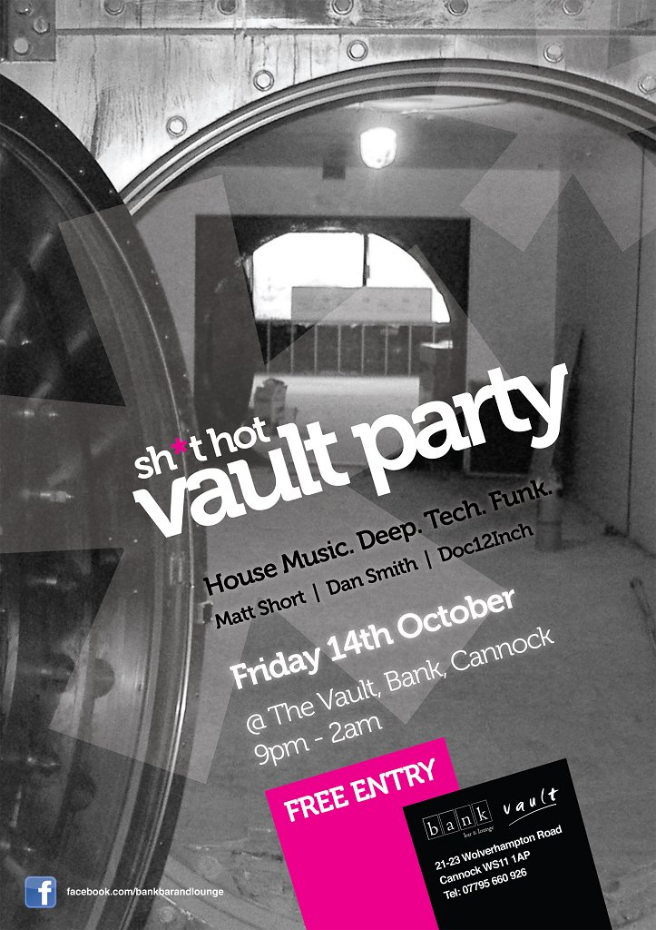 Shit Hot Vault Party - Flyer front