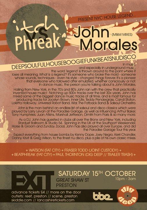 Itch vs Phreak with John Morales (Nyc Legend) - Flyer back