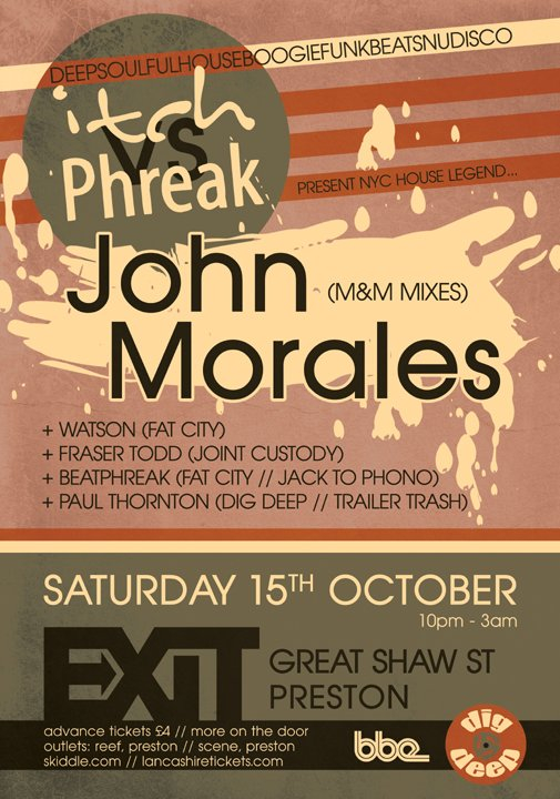 Itch vs Phreak with John Morales (Nyc Legend) - Flyer front