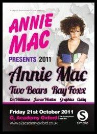 Annie Mac presents - Flyer front