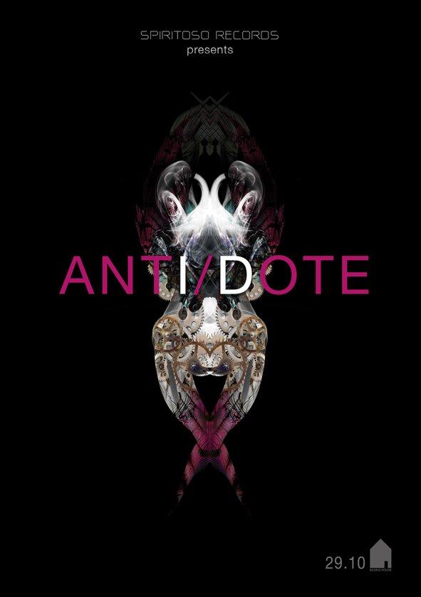 Spiritoso Records & Antidote with Lee Van Dowski (Cadenza) & Digitaline (Live) (Cadenza) - Flyer front