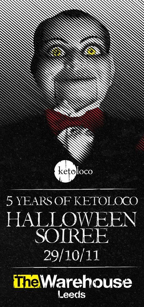 5 Years Of Ketoloco - Halloween Soirée - Flyer back