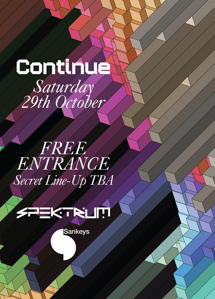 Continue - Secret Line-Up TBA - Flyer front