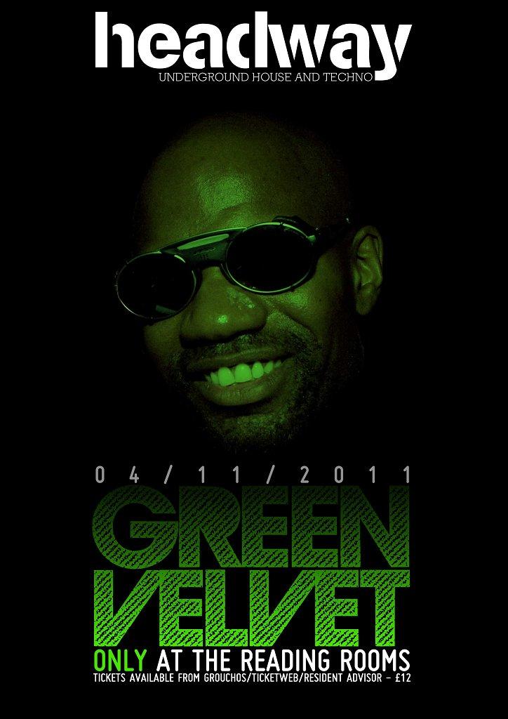 Headway presents Green Velvet - Flyer front