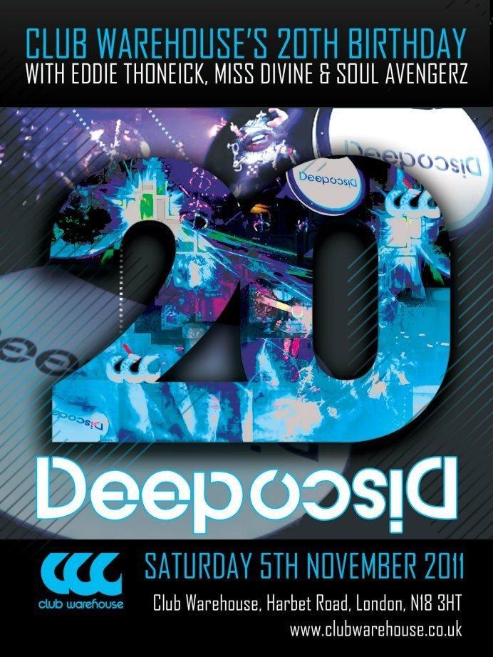 Deep Disco: with Eddie Thoneick & Miss Divine - Flyer front