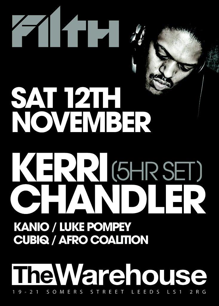 Filth - Kerri Chandler, Kanio & Luke Pompey - Flyer back
