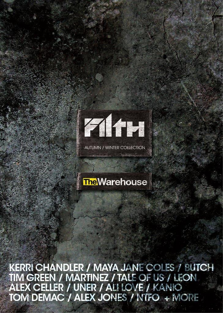 Filth - Kerri Chandler, Kanio & Luke Pompey - Flyer front