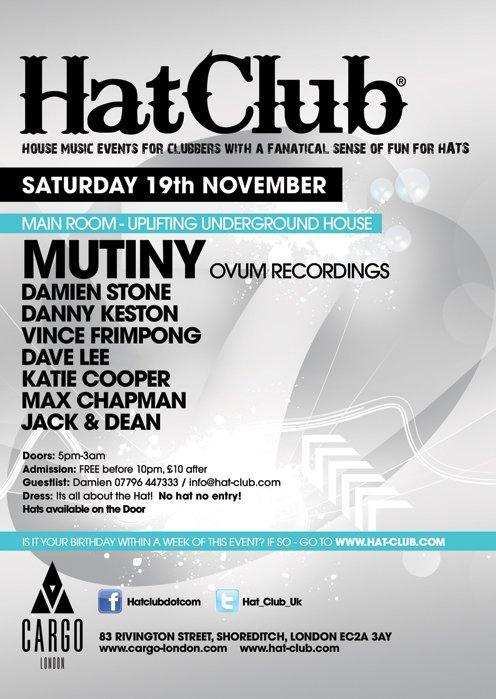 Hat-Club 7th Birthday - Flyer back
