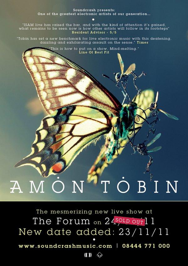 Amon Tobin Live - Flyer front