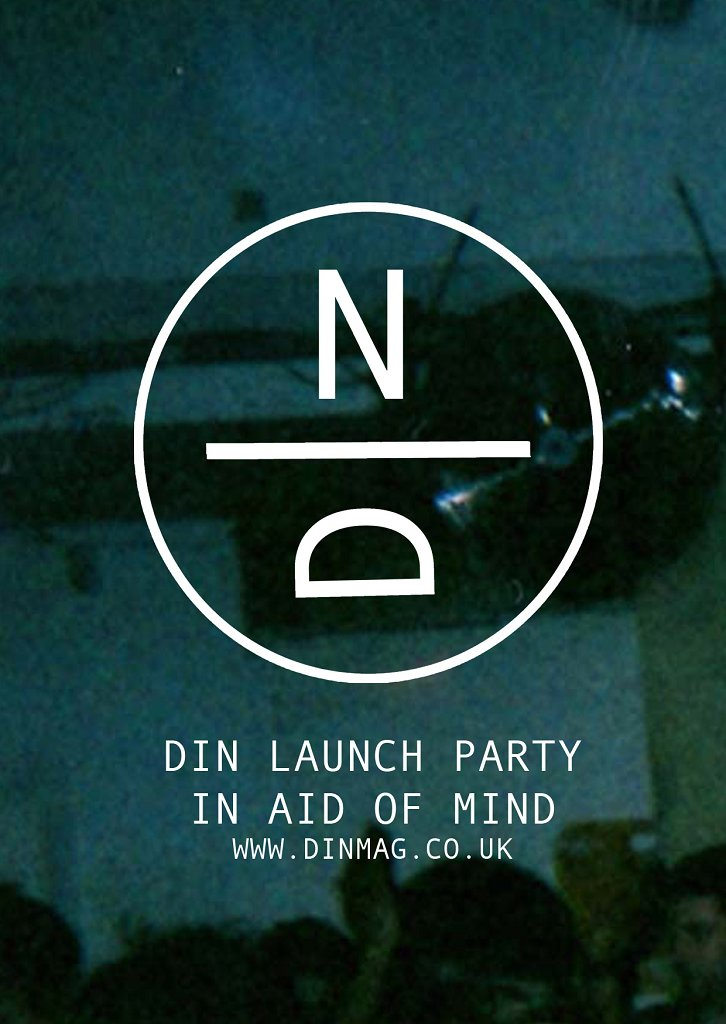 Din Launch Party - Pinch, Gemmy, Kahn, Kowton and More - Flyer back