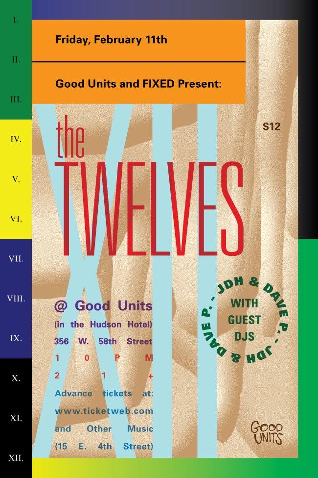 Fixed presents: The Twelves - Flyer front