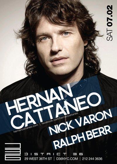 District 36 presents Hernan Cattaneo - Flyer front