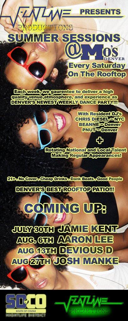 Summer Sessions at Mo's Denver - Flyer front