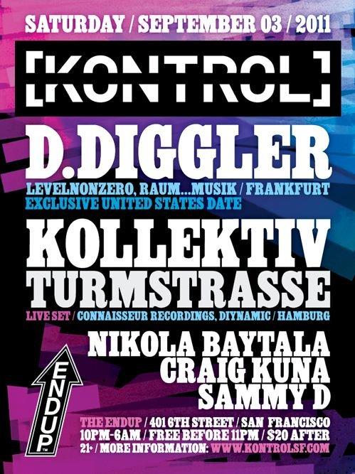 [kontrol] with D.Diggler & Kollektiv Turmstrasse (Live) - Flyer back