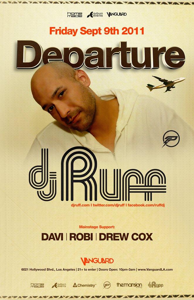 Dj Ruff, Davi, Robi, Drew Cox - Flyer front