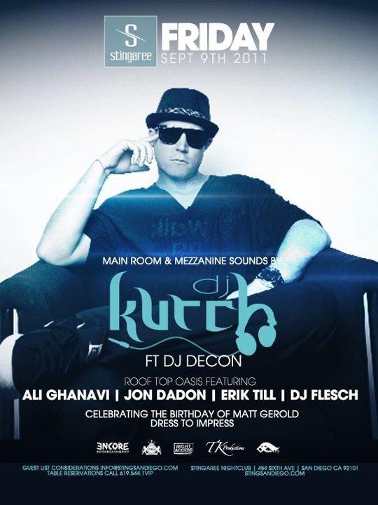Dj Kurch, Ali Ghanavi and Jon Dadon - Flyer front