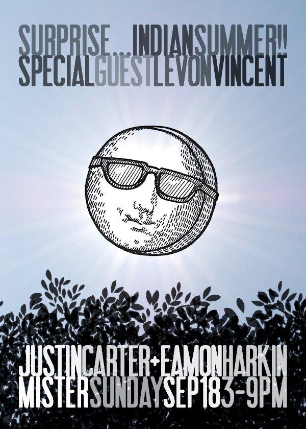 Mister Sunday Indian Summer Bonus Party - Flyer back