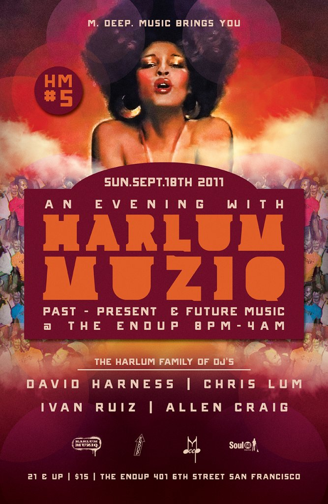 M.Deep.Music Invites You To An Evening with Harlum Muziq - Flyer front