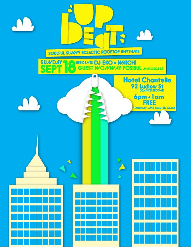 Up.Beat - A Sunset Rooftop Party feat Wonway Posibul - Flyer front