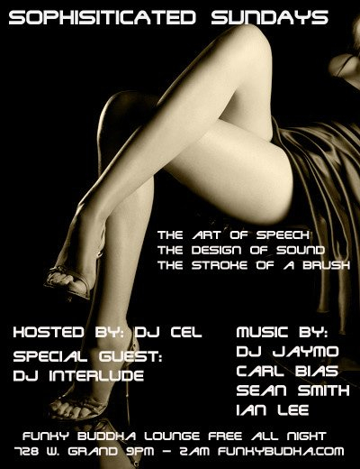 Sophisticated Sundays - Flyer front