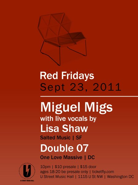 Red Fridays - Miguel Migs - Flyer front